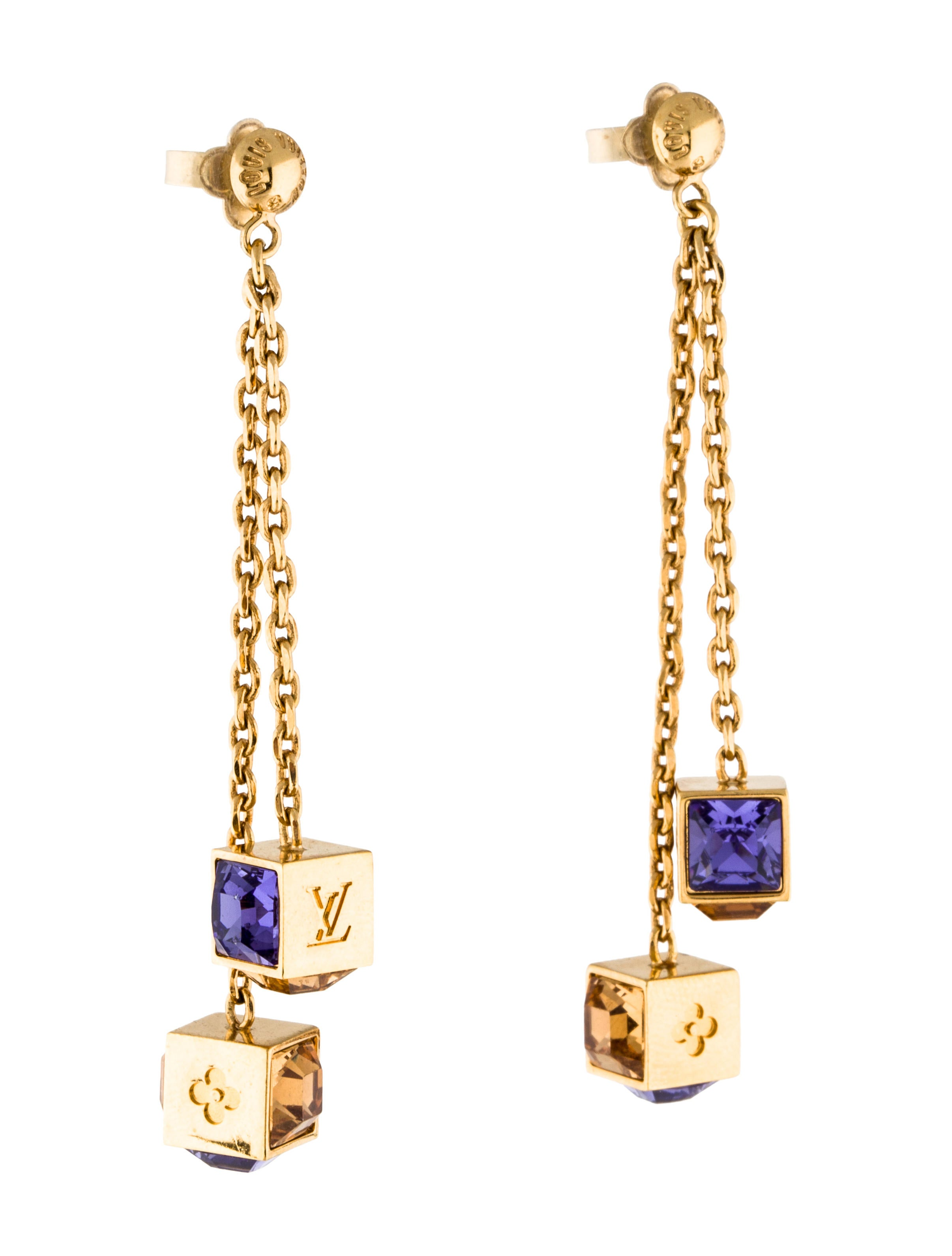 louis vuitton earrings mens louis vuitton gamble earrings earrings lou140246 the 3902