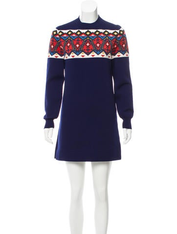 Louis Vuitton Fair Isle Knit Dress None