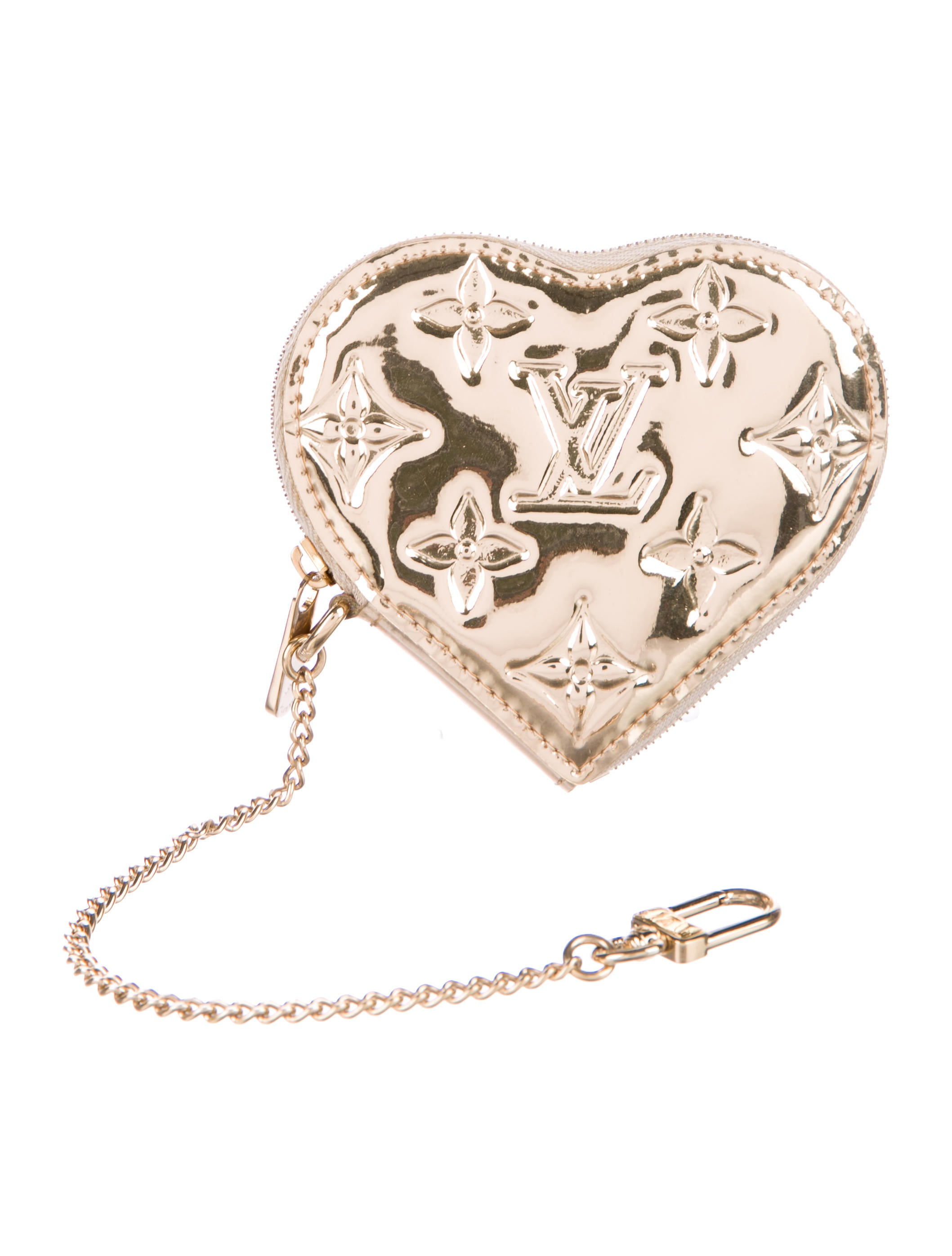 Louis vuitton monogram miroir heart coin purse for Monogram miroir