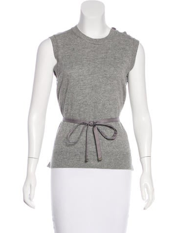 Louis Vuitton Wool & Cashmere-Blend Top None