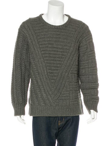 Louis Vuitton Camel Hair Cable Knit Sweater None