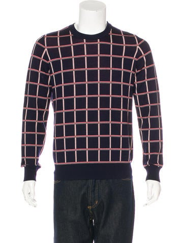 Louis Vuitton Wool Plaid Sweater None