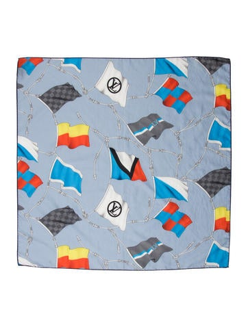 Louis Vuitton LV Flags Bandana Scarf None