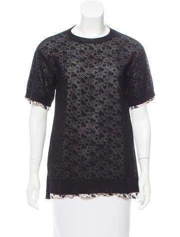 Louis Vuitton Floral Print Knit Top None
