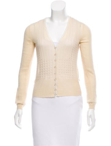 Louis Vuitton Open Knit Cashmere Cardigan None