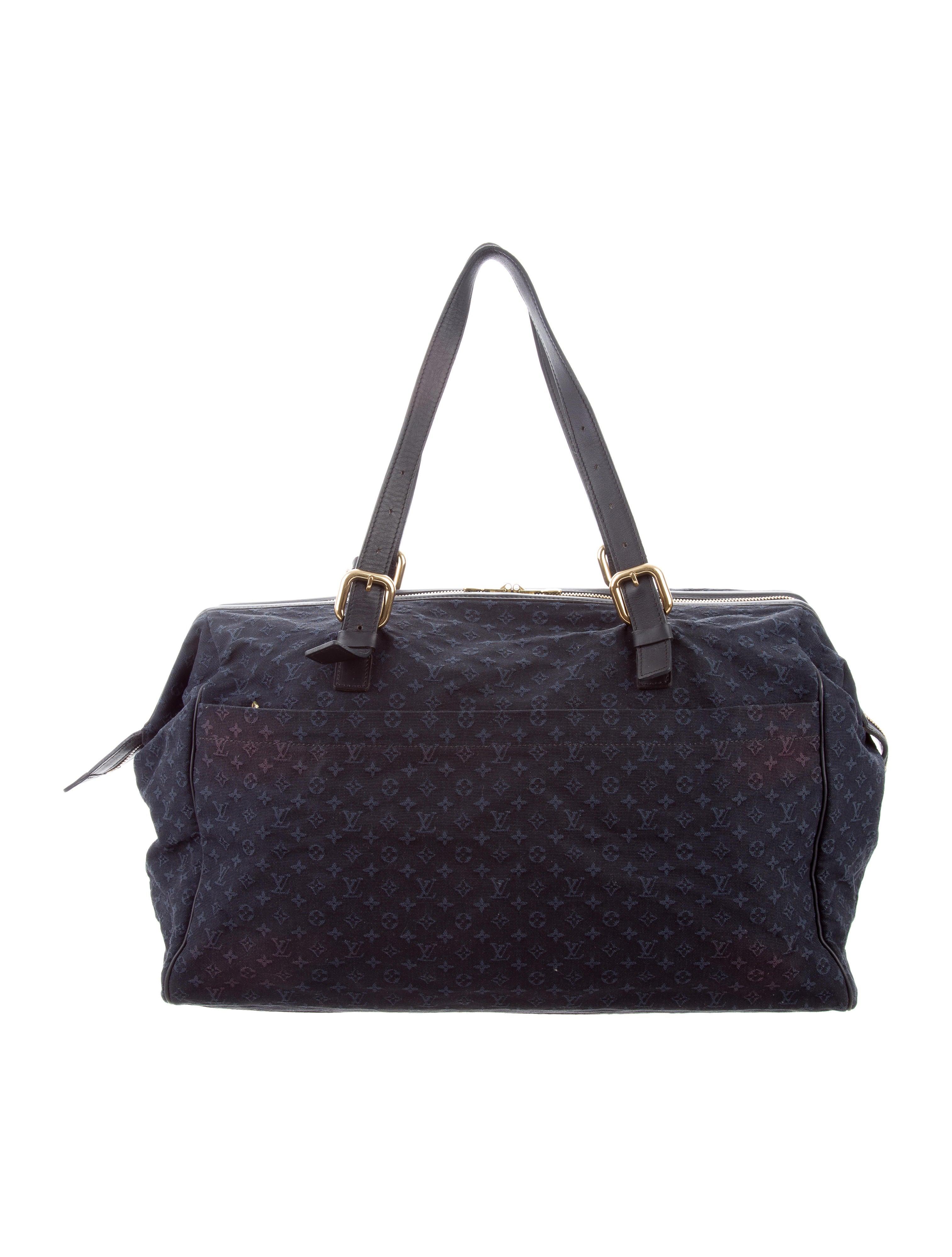 louis vuitton mini lin louise weekender bag bags lou144391 the