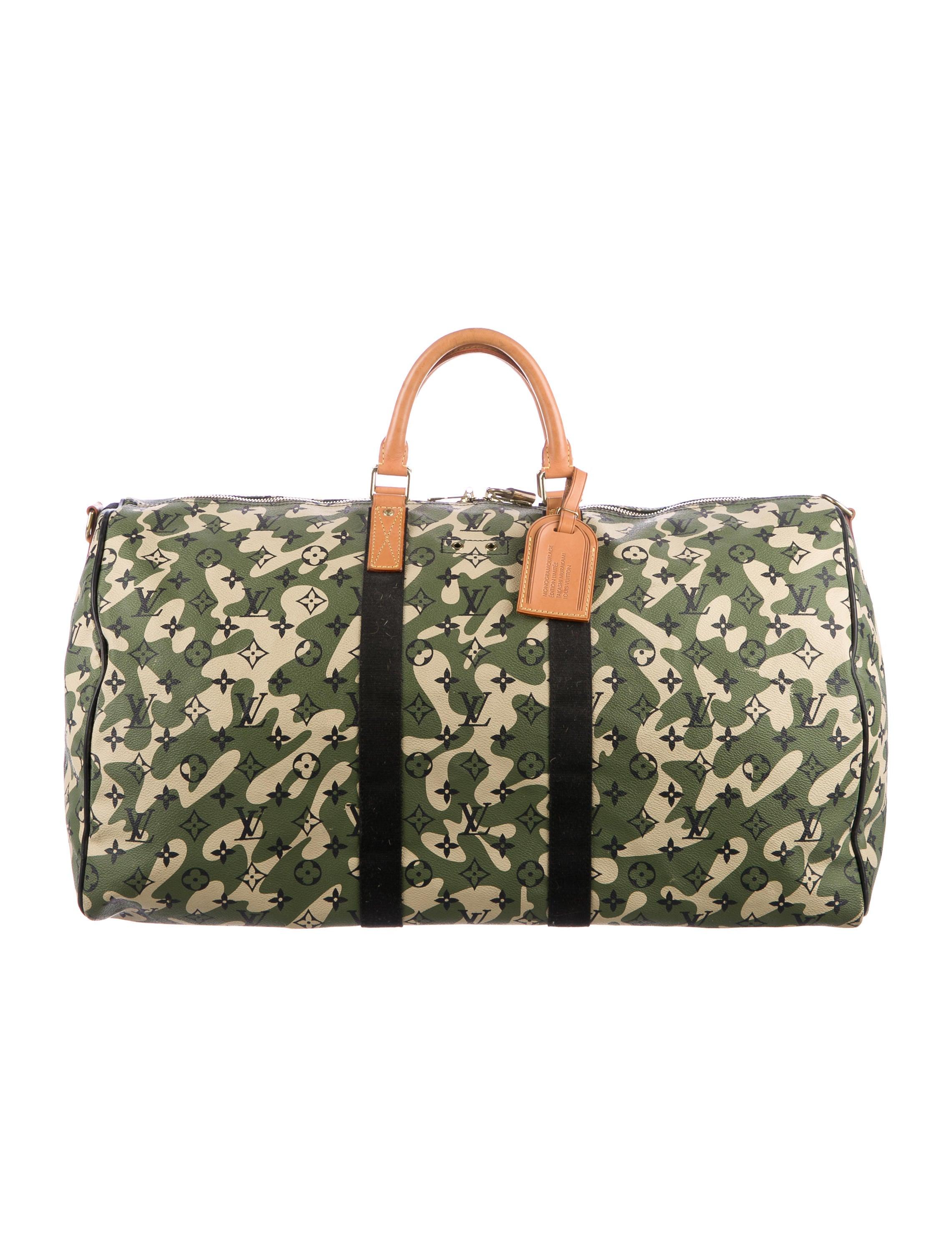 9a7ab40587dc Louis Vuitton Monogramouflage Keepall Bandoulière 55 - Bags ...