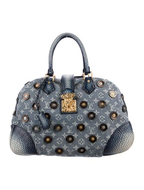 Louis Vuitton Denim Polka Dot Trunks Bag Bowly Blu