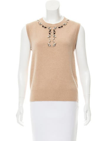 Louis Vuitton Embellished Sweater Vest None