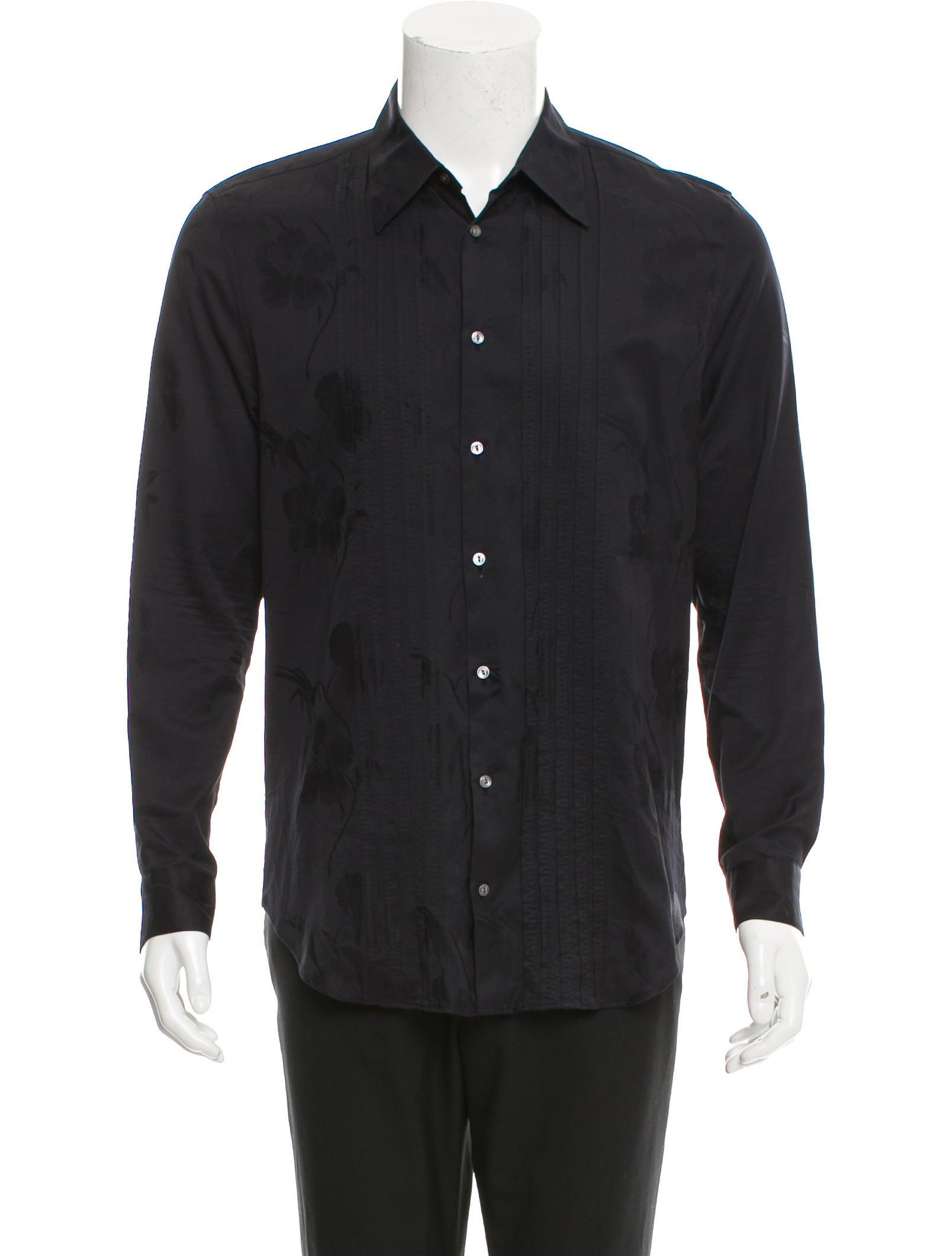 Louis vuitton floral print button up shirt clothing for Floral print button up shirt