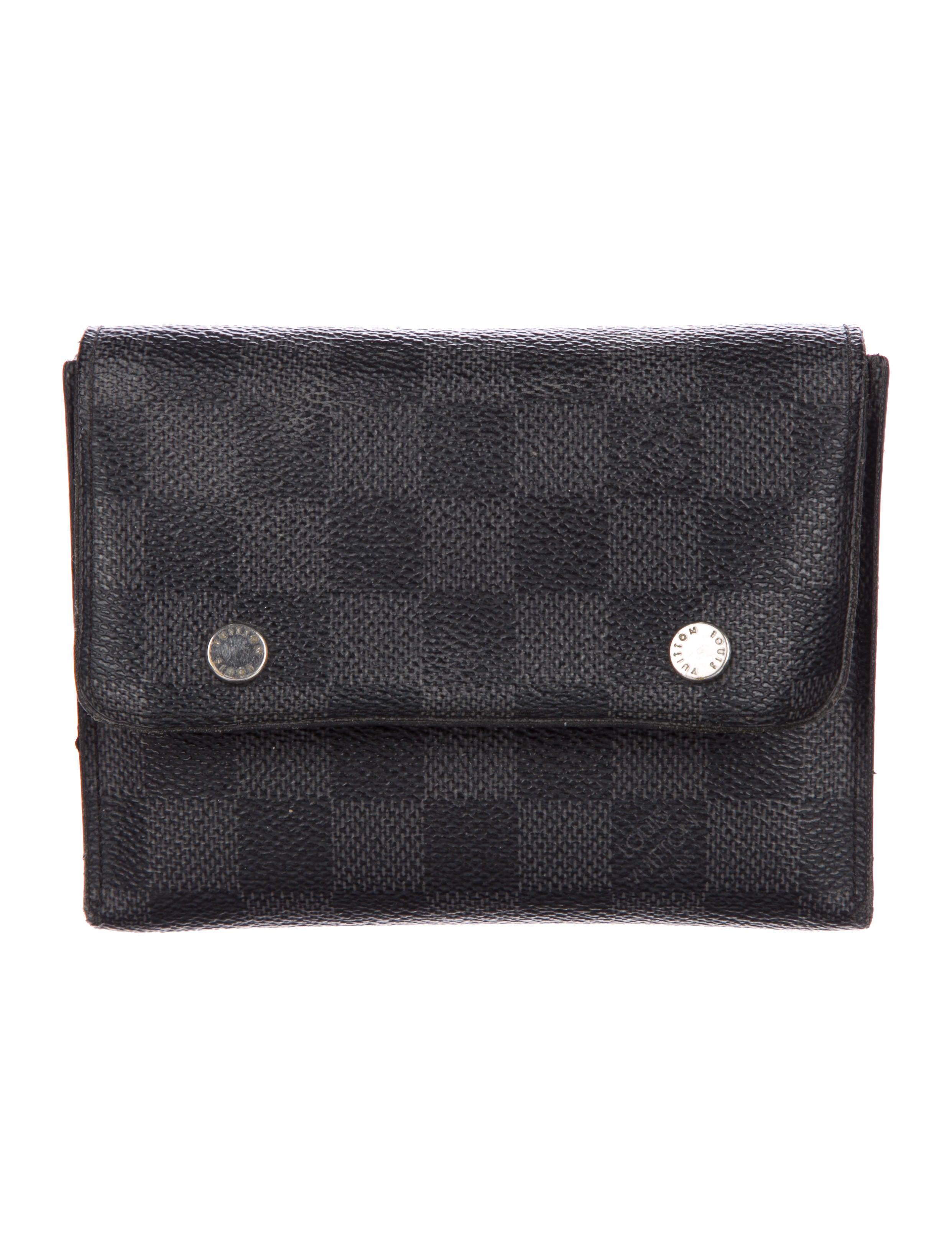 d9721ccc2d7d Louis Vuitton Damier Graphite 4 Piece Adjustable Organizer Wallet ...