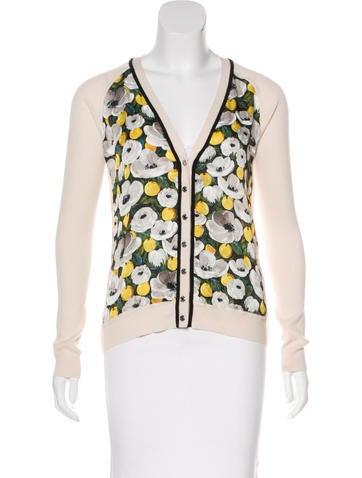 Louis Vuitton Wool & Silk Rib Knit Cardigan w/ Tags None