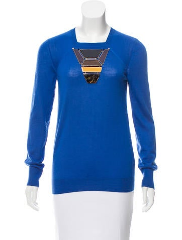 Louis Vuitton Embellished Cashmere Sweater None