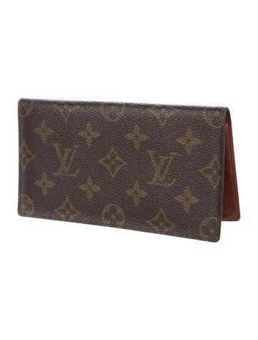 Louis vuitton monogram porte chequier simple accessories lou146821 the realreal - Porte chequier louis vuitton ...