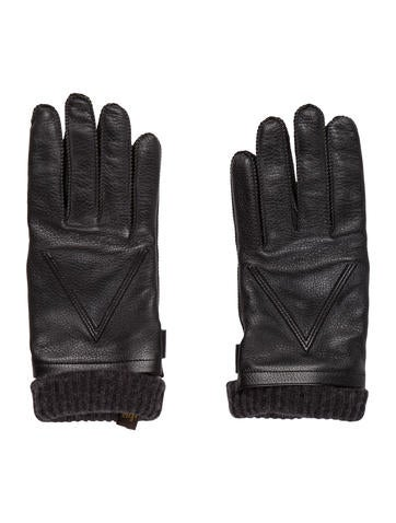 Louis Vuitton Leather V Gloves None