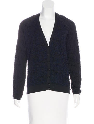 Louis Vuitton Silk Ruched Cardigan w/ Tags None