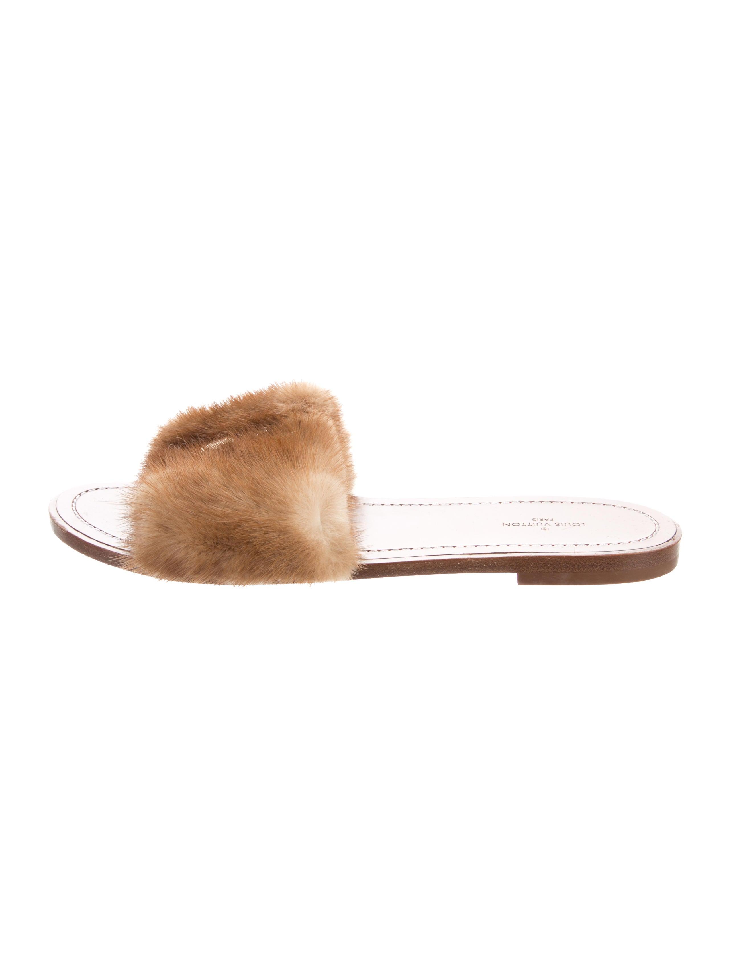 b7f9d0d0d2d4 Louis Vuitton Lock It Mink Fur Slide Sandals - Shoes - LOU152927 ...