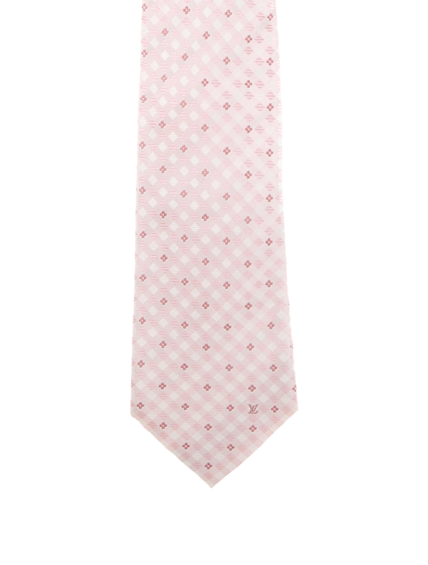 5c2b223142d3 Louis Vuitton Silk Floral Gingham Pint Tie - Suiting Accessories ...