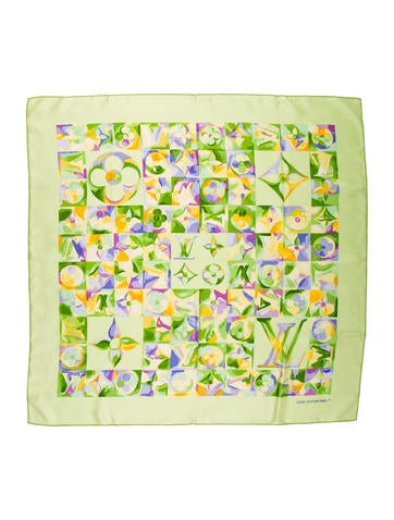 Louis Vuitton Monogram Fleur Silk Scarf None
