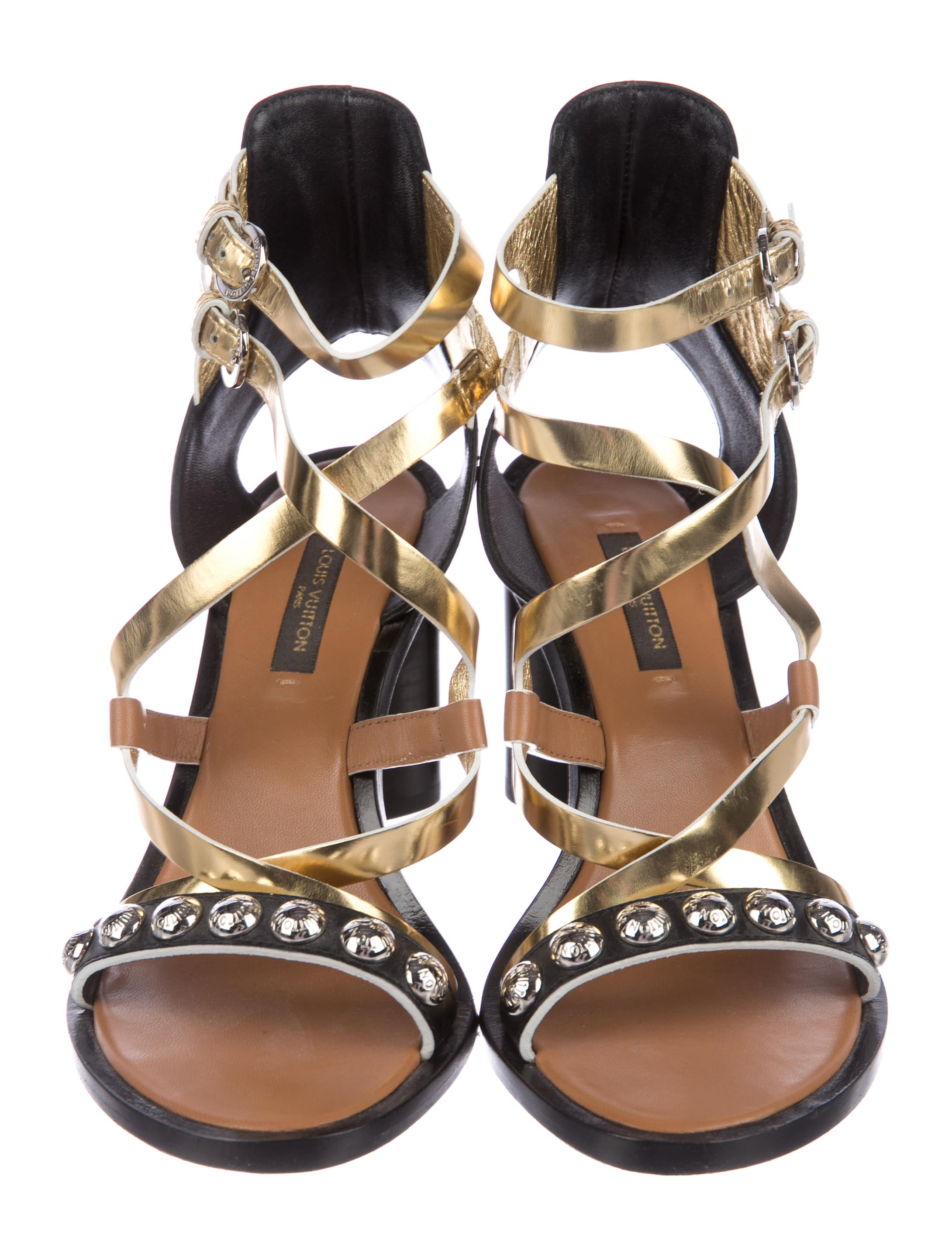 3415665aa152 Louis Vuitton Studded Crossover Sandals - Shoes - LOU157885