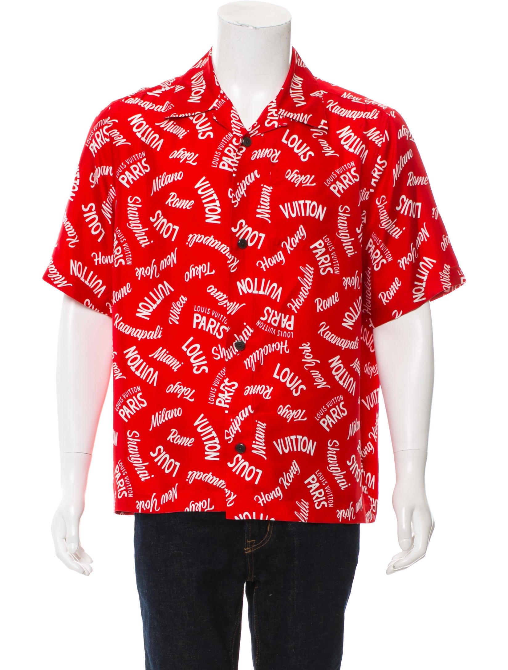 ad06e361 Louis Vuitton 2018 Hawaiian Silk Shirt - Clothing - LOU160847   The ...