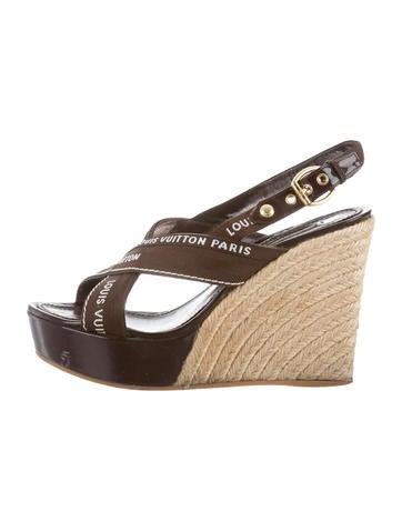 Louis Vuitton Logo Wedge Sandals None