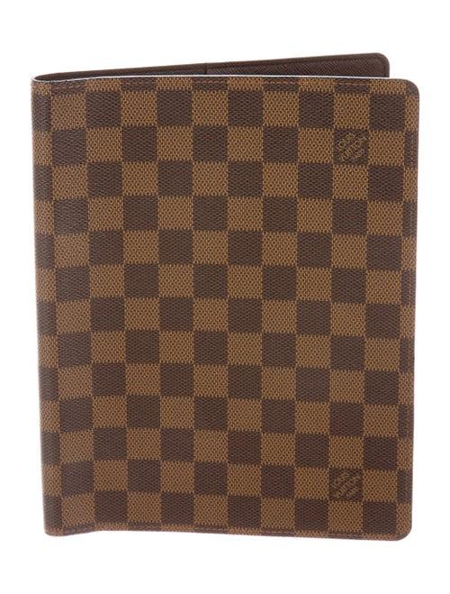 795c7d2bb11f Louis Vuitton Damier Ebene Desk Agenda Cover - LOU167847