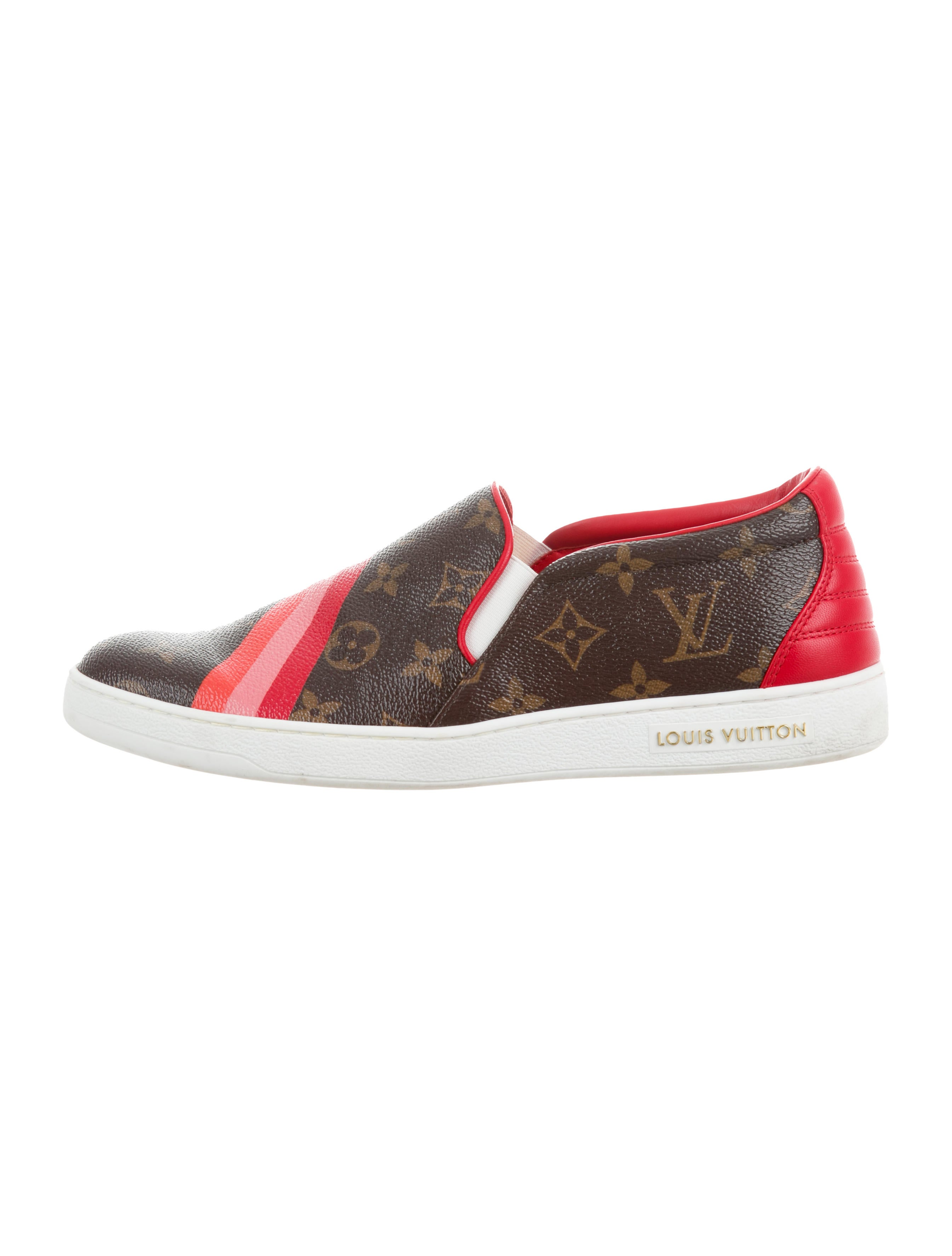 fbaa39dfeaaa Louis Vuitton Front Row Monogram Slip-On Sneakers - Shoes ...