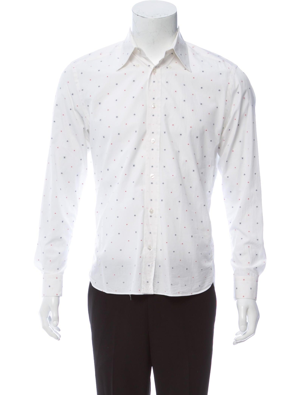Louis Vuitton Printed Dress Shirt Clothing Lou178453 The Realreal