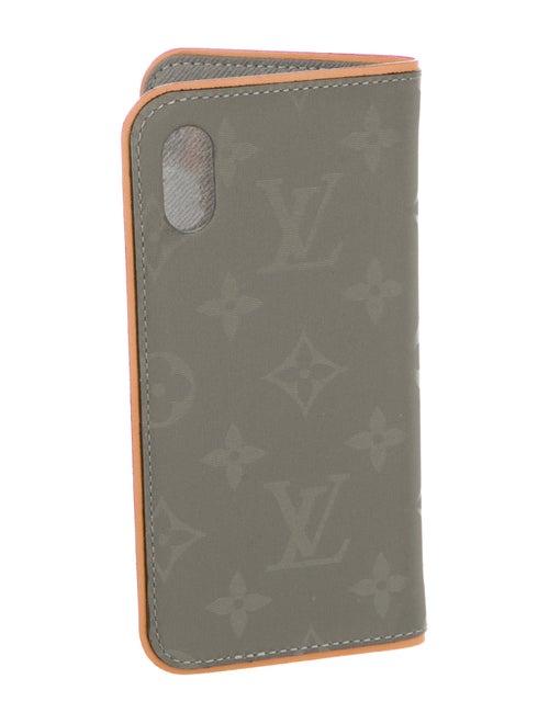 991c4e989852 Louis Vuitton 2018 Monogram Titanium iPhone X Folio Case w  Tags ...