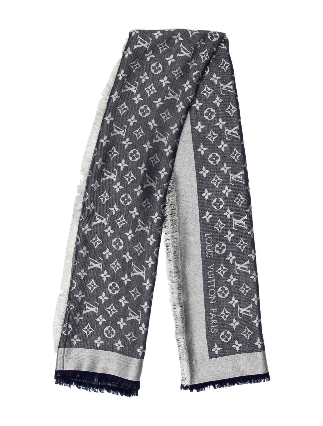 45fe4d69a7ce7 Louis Vuitton Monogram Denim Shawl - Accessories - LOU180833