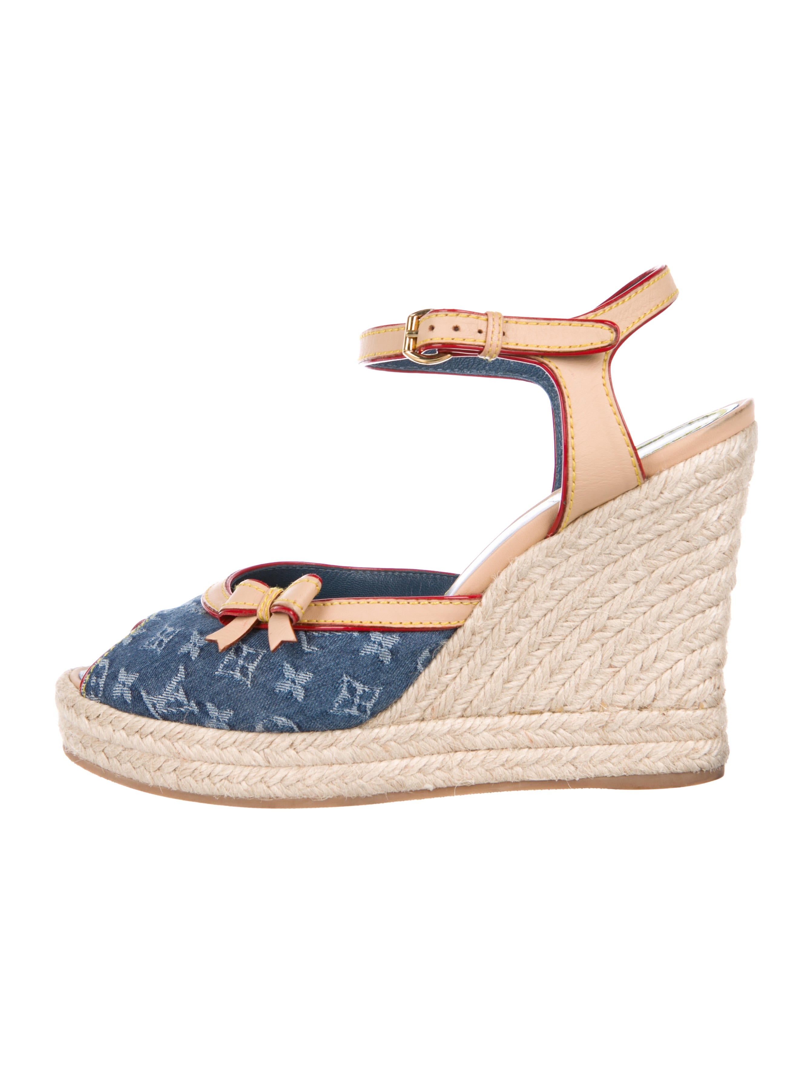 89f67aa9cdb Louis Vuitton Monogram Idylle Espadrille Wedges - Shoes - LOU181173 ...