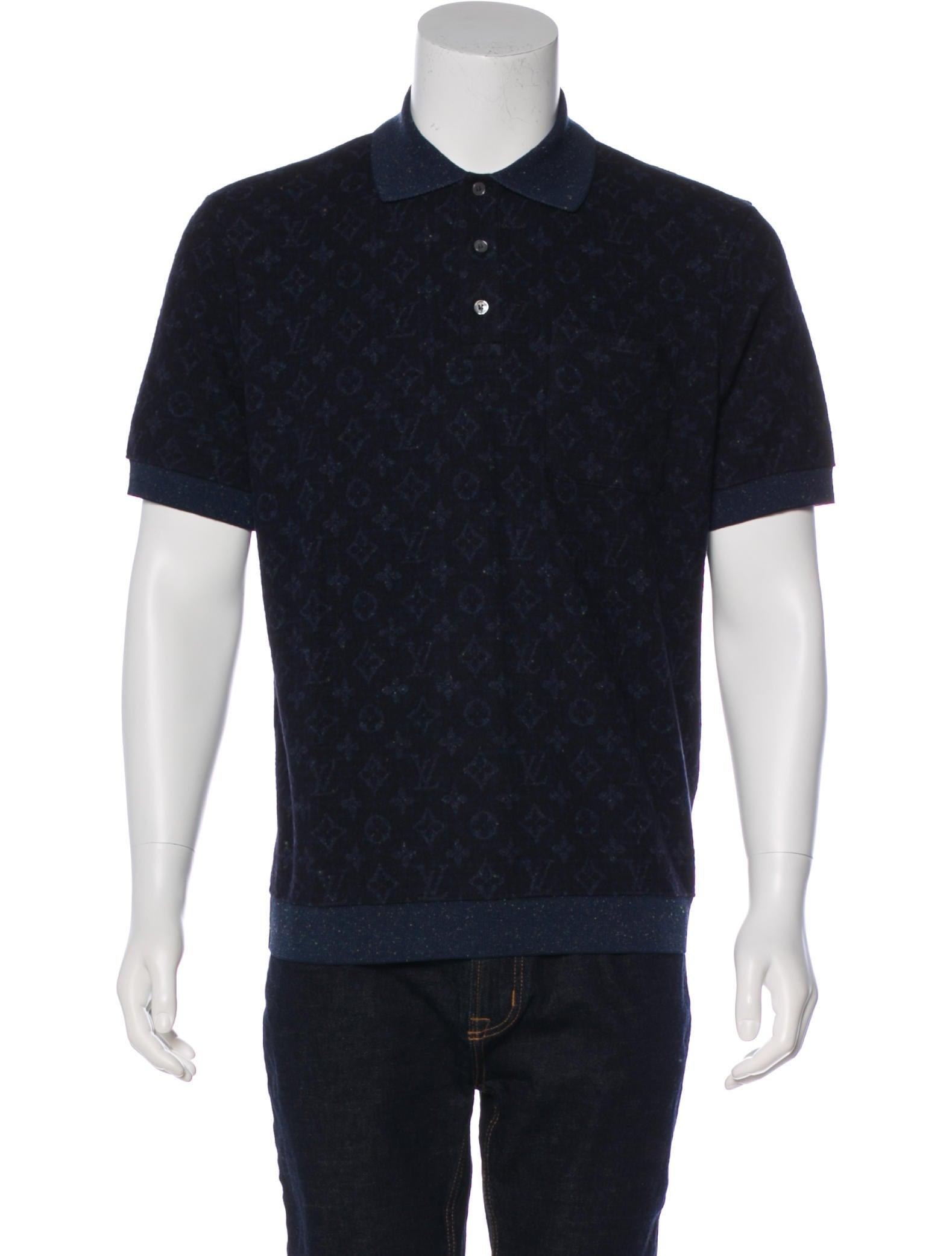 9d823ef2fa5a Louis Vuitton 2018 Allover Tweed Monogram Polo Shirt - Clothing ...