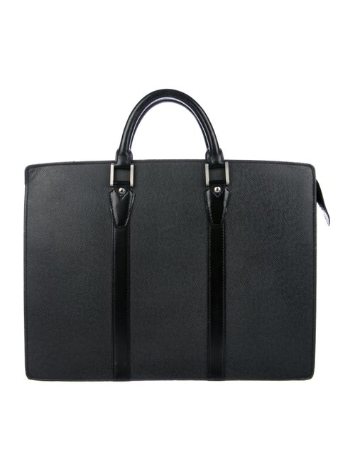Louis Vuitton Taiga Lozan Briefcase black