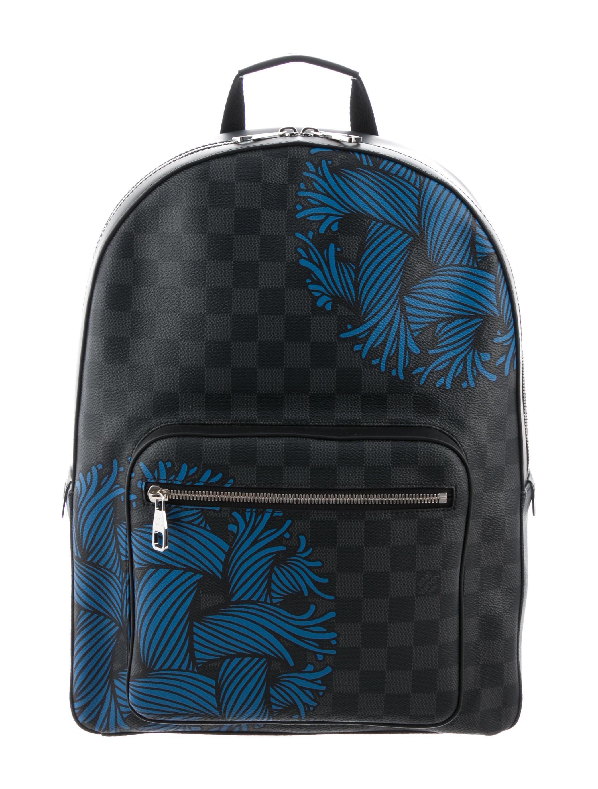 Louis Vuitton 2016 Damier Graphite Rope Josh Backpack - Bags ... b254f62d6b25a