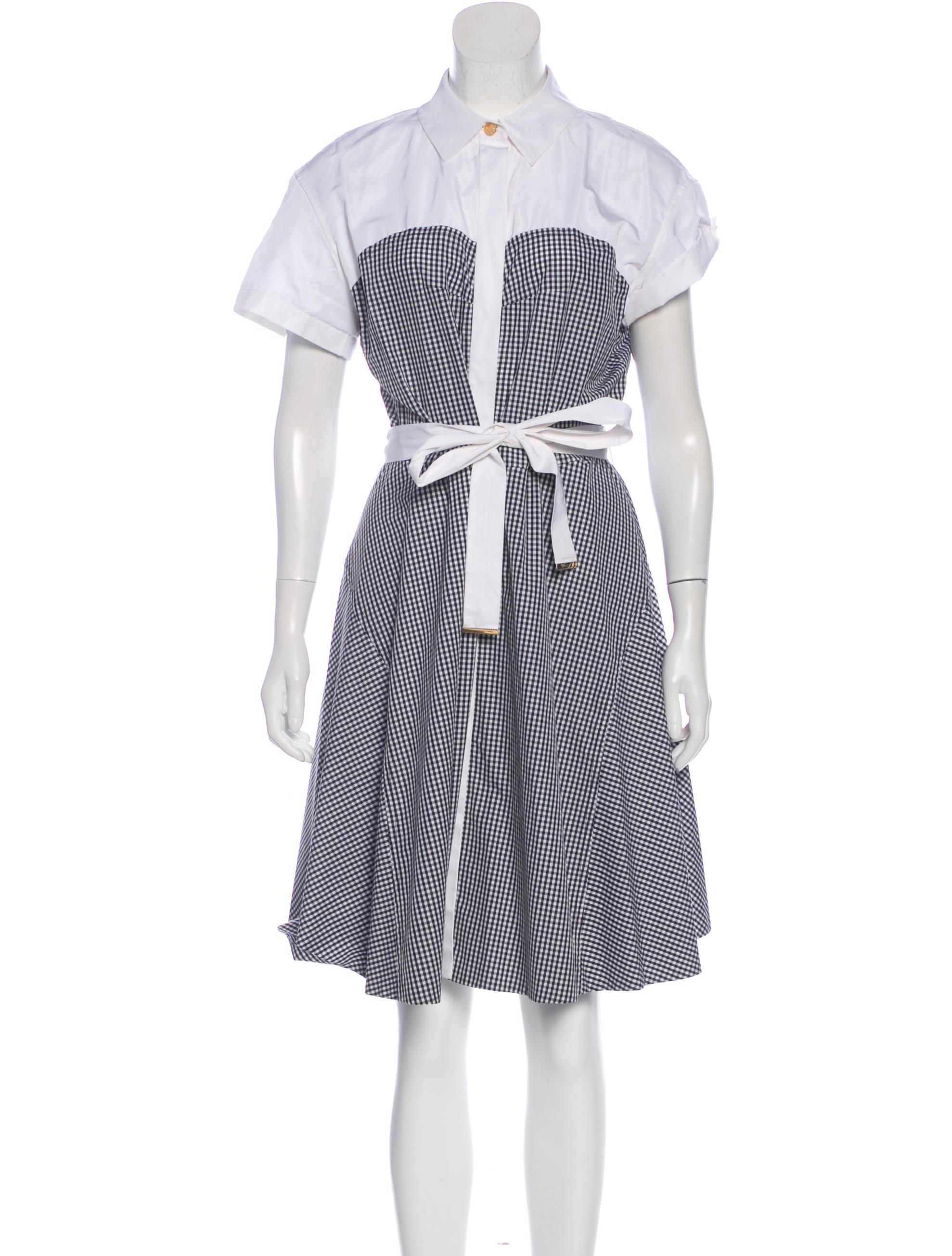 a2054b2b8c7bf Louis Vuitton Gingham Midi Dress w  Tags - Clothing - LOU195998 ...