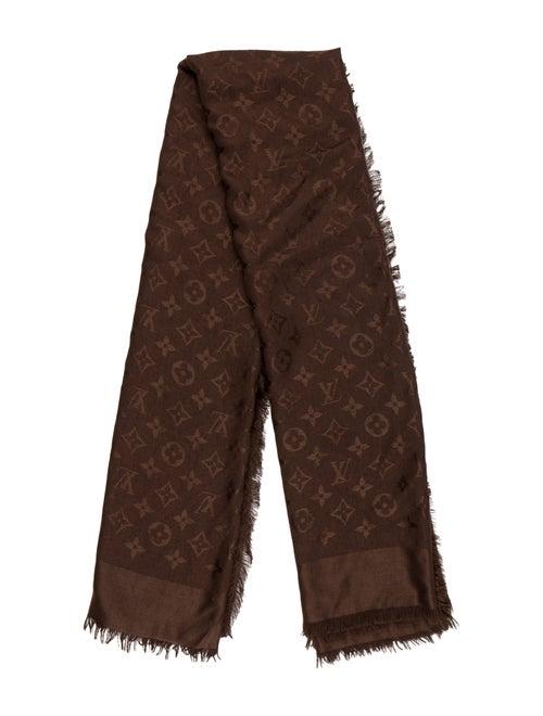 Louis Vuitton Silk Wool Blend Monogram Shawl Accessories
