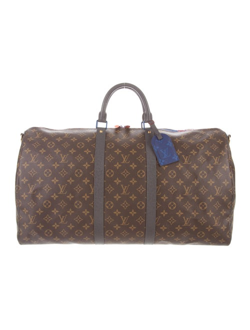 1cd3cf24c Louis Vuitton 2018 Monogram Taiga Outdoor Keepall Bandouliere 55 ...