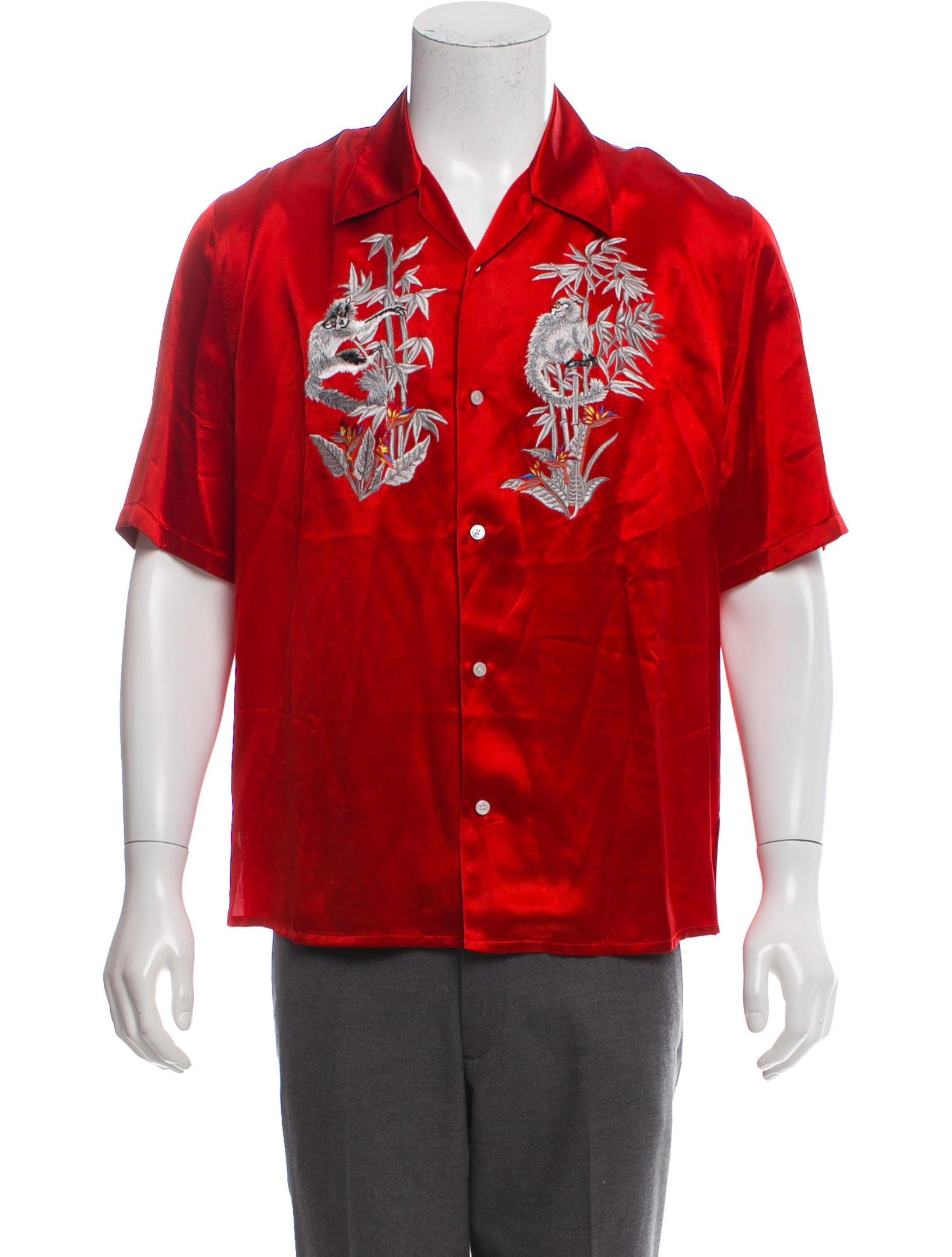 2ba6acfa0afb Louis Vuitton Embroidered Satin Shirt - Clothing - LOU200377