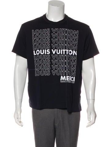 e7138683562 Louis Vuitton  Merci Have A Vuitton Day  Print T-Shirt - Clothing -  LOU200393