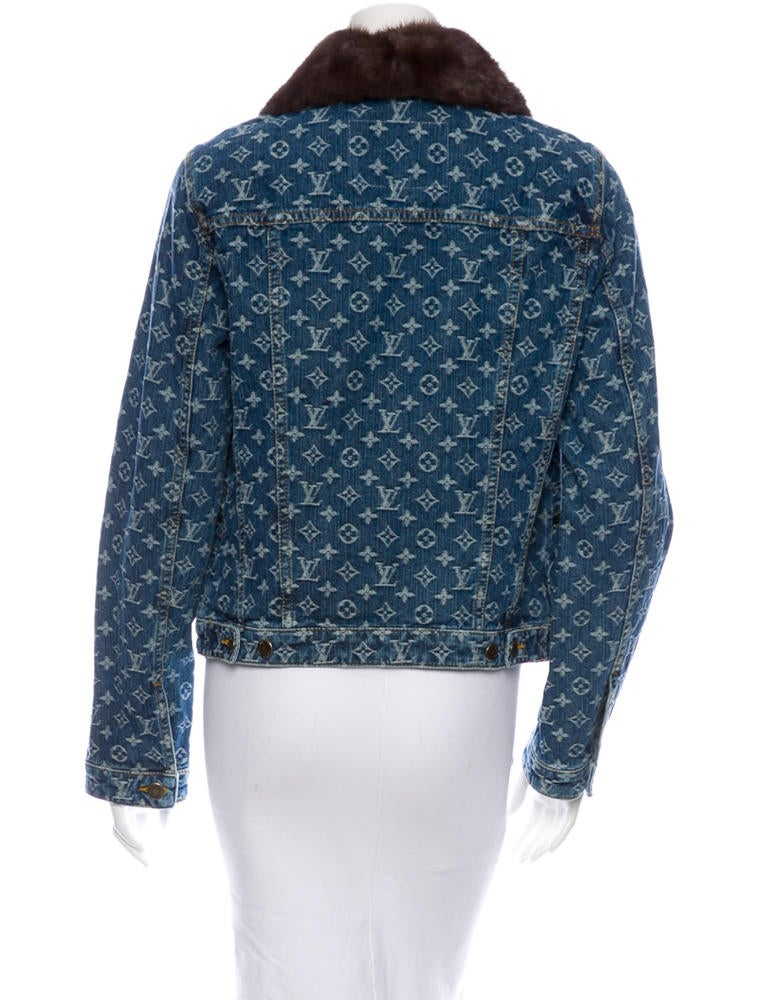 Louis Vuitton Monogram Denim Jacket W Tags Clothing
