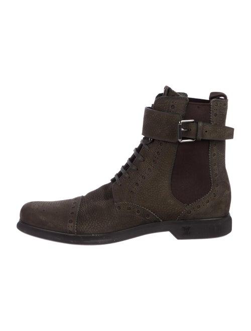 15fde7f5534 Louis Vuitton Leather Cap-Toe Ankle Boots - Shoes - LOU209504