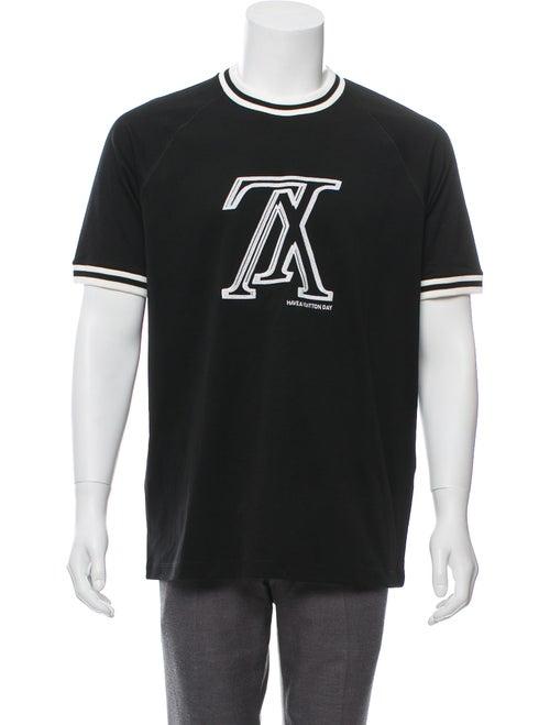 8b855b6dba26 Louis Vuitton 2019 Upside Down Embroidered LV T-Shirt w  Tags ...