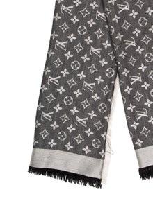 2f58d71dc3a Louis Vuitton. Monogram Silk Wool Shawl