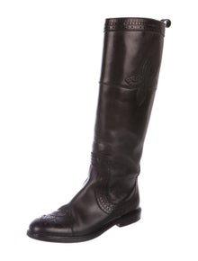 d8520649bcb Louis Vuitton. BrogueKnee-High Boots