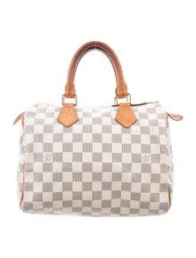 06420f604f2b Louis Vuitton. Damier Azur Speedy 25
