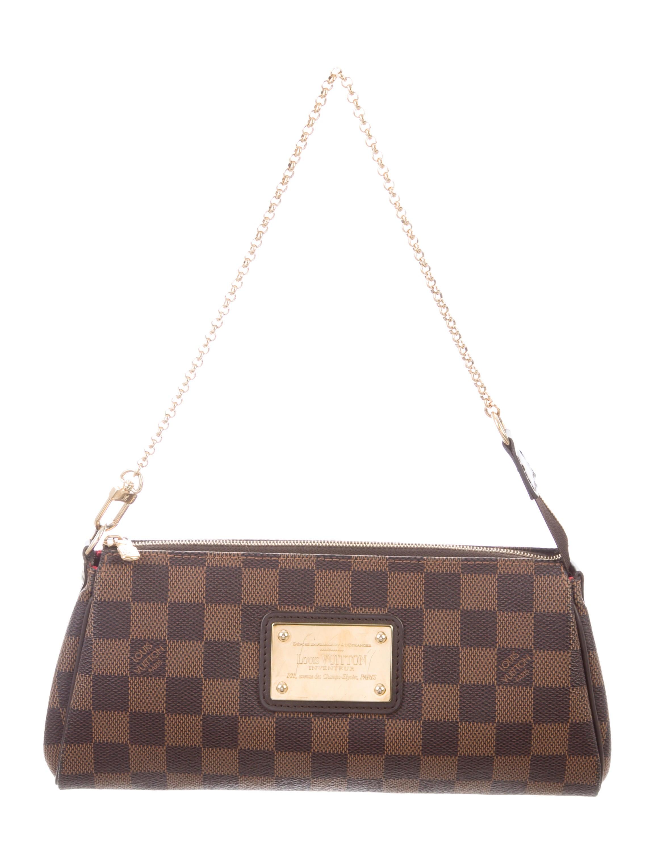 c2bf01bac6de Louis Vuitton Damier Ebene Eva Clutch w  Strap - Handbags ...