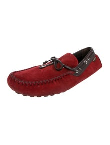 57c14a05fc03 Louis Vuitton. Suede Driving Loafers. Size  US 11