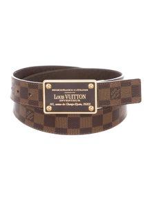 62c338f99dcc Louis Vuitton. Damier Ebene Inventeur Belt