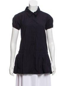 a4b84727d6d5 Louis Vuitton. Short Sleeve Button-Up Top